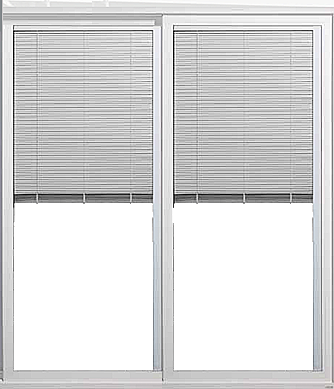 Jeld Wen sliding door with mini-blinds