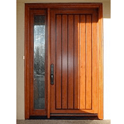 Custom Fibreglass door and Sidelite. Professional stained in factory.