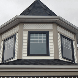 Top of Victorian home with new windows