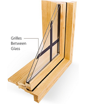 Grilles between glass